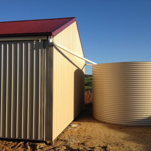 Rainwater tank filtration, treatment and sterilisation.